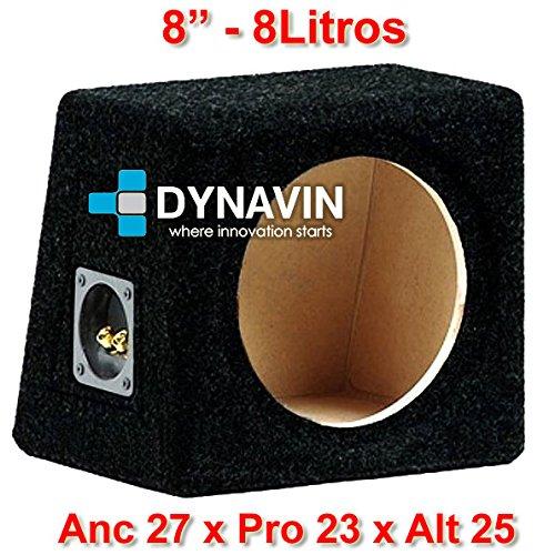 "Dynavin Caja acústica Universal para subwoofer de 8\"" (200mm), 10\"" (250mm), 12\"" (300mm), 15\"" (380mm), 18\"" (450mm) (8\"", Negro)"