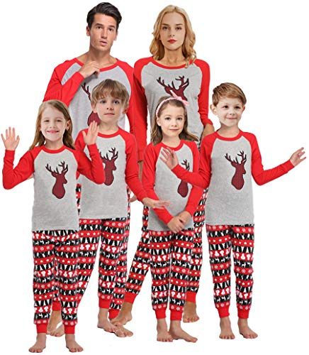 Matching Family Pajamas For Men Girls Christmas Sleepwear Boys Handmade Deer Pjs Mum and Me Pyjamas Women M