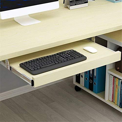 HYLX Escritorio para computadora Debajo del Escritorio Bandeja para Teclado de computadora, cajones y Plataformas para Teclado multifunción Bandeja para Teclado sin Perforaciones Adecuada para PE