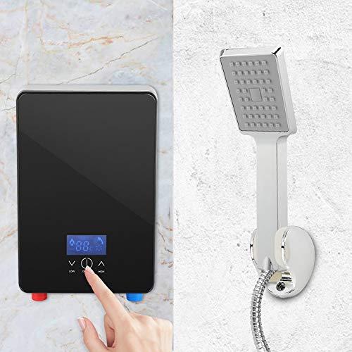 AYNEFY Durchlauferhitzer,Warmwasserbereiter Badezimme 220V 6500W Canisterless Instant Elektrische Warmwasserbereiter Für Haushalts-Bad, Dusche mit Dusche.