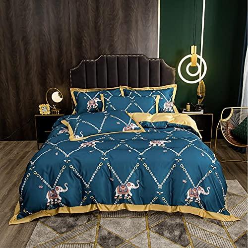 funda nordica cama 90 juveniles,Lavar el conjunto de cuatro piezas de seda, cómoda sedosa cama de verano reversible de una sola almohada de la cama de la almohada Suministros de cama regalo-Ff_Cama d