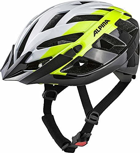 ALPINA PANOMA 2.0 Fahrradhelm, Unisex– Erwachsene, white-neon-black, 52-57