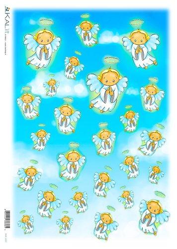 Sporco Accademia del Craft 32 x 45 cm Angeli carta di riso nel cielo