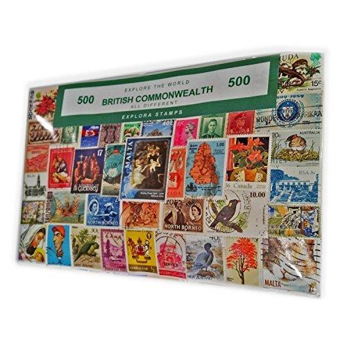London England Commonwealth 500 Stamp Collection Souvenir! Baked Speicher/Memoria! Stark Sammelfigur UK Briefmarken!-Souvenir, Sammlerstück, Souvenir, ein einzigartiger und Lehrreich! Timbre/Briefmarken Francobollo// Sello!