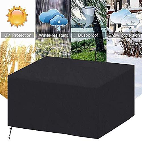 DYB Fundas para muebles de jardín, cubierta de muebles de jardín, resistente al agua, cuadrado, protección UV, tela Oxford 210D para patio al aire libre sofá