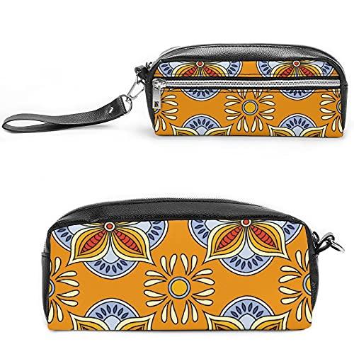 Bolsa de cosméticos de viaje para mujer, diseño retro con unicornio, bolsa de maquillaje para viajes y cosméticos con muchos bolsillos, Negro-estilo-1, 20*10*5.5cm,