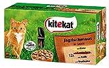 Kitekat Cibo Fresco per Gatti, Mix di Caccia, festino in Salsa, Multipack per Alimenti umidi per Gatti, 48 bustine da 100 g, Anatra, Coniglio, Vitello, Tacchino