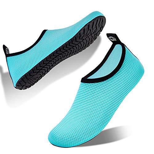 IceUnicorn Schwimmschuhe Damen Badeschuhe Strandschuhe Herren Aquaschuhe Wasserschuhe Barfus Schuhe Unisex Sommer Surfschuhe Yoga(DSFG-Mond, 44/45EU)