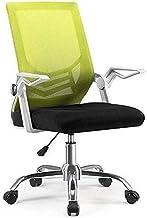 ZNBJJWCP Ergonomic Office Chair, Computer Task Office Desk Chair, Mesh Office Chair with Armrests (Color : Green)