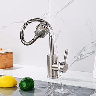 Grifo para baño mango único lavabo solo orificio válvula mezcladora cobre puro doble propósito grifo para lavabo