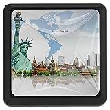 BennigiryNew York City Quadratische Kristallglas-Türknöpfe, Ziehgriffe, ergonomische Schubladengriffe, 3 Stück