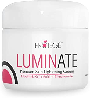 Skin Lightening Cream - Luminate- 100% Natural Skin Bleaching for Underarm, Body, Face, Intimate and Sensitive Areas - Whitening with Arbutin + Kojic Acid + Niacinamide for Women and Men - 2oz
