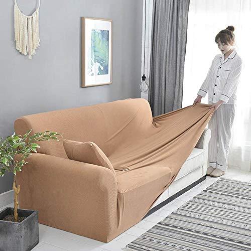 DANNEIL Cubre Sofa,Funda Elástica Universal A Prueba De Polvo De Color Sólido 123 Combinación Chaise Longue Anti Cat Scratch Adecuado para La Mayoría De Los Sofás L-A 007_235-300cm