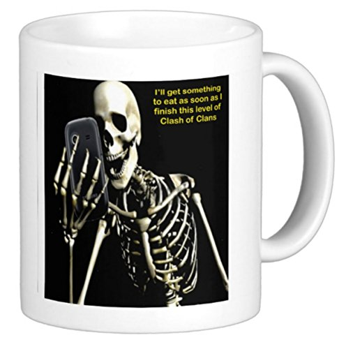 Humorous Clash of Clans Coffee Mug Ill Get Something to Eat When I Finish the Next Level of Clash of Clans Skeleton by The Image Shark