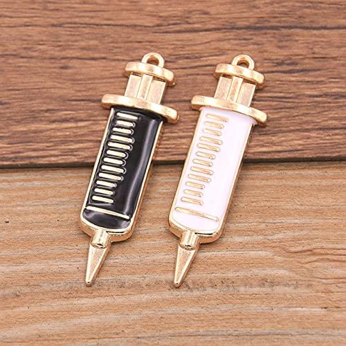 JTWMY 10 Pezzi Medici Fascino stetoscopio siringa Infermiera Cappello Ciondolo per Collana Braccialetto Risultati di creazione di gioielli-6G1-9