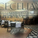 Cecelia's Ristorante - Gift Basket Details :: Gift Certificate