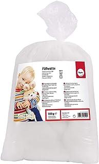 Rayher - mousse de rembourrage de polyester à 100 % pour garnir des peluches, doudous, coussins etc. sachet de 500g - blanc