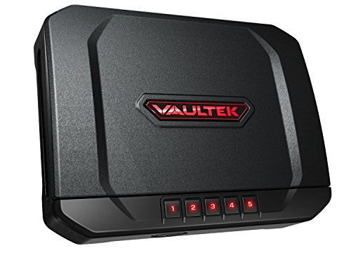 Vaultek VT20 Handgun Safe Bluetooth Smart Pistol Safe with Auto-Open Lid and Rechargeable Battery (Black)