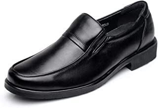 CAIFENG Negocio Formal Oxford para Hombres Zapatos de Vestir de Moda Slip en Cuero Genuino Toe Redondo tacón Plano Transpi...