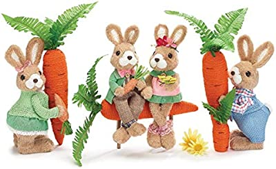 Furry Bunnies with Carrots Trio