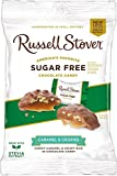 Russell Stover Sugar-Free Crispy Caramels 3 Ounce (Pack of 12) Russel Stover Sugar-Free Candy, Chocolate Candy Pack, Buttery Caramel and Crispies Covered In Chocolate Candy, Sweetened with Stevia