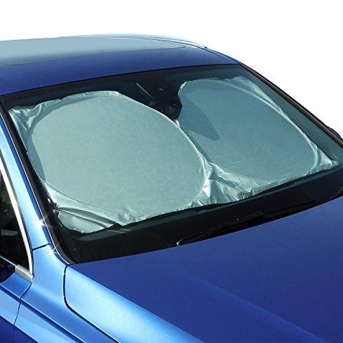 CampTeck U6834 Zusammenlegbarer Sonnenschutz Frontscheibe Auto-Sonnenschutz Windschutzscheibe UV Reflekor Schutz Universelle (148x70cm) mit Tragetasche