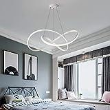 Lámpara LED para comedor o sala de estar, regulable, 3000 - 6500 K, de acrílico, diseño moderno, altura regulable, para salón, dormitorio, baño