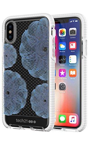 Evo Check Evoke für iPhone X transparent/blau