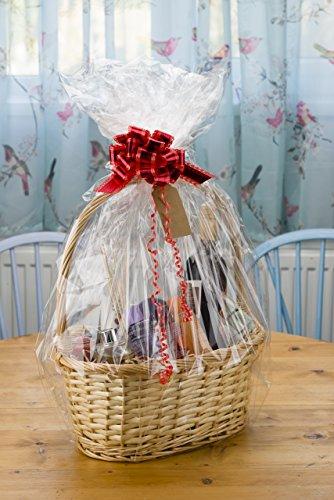 woodluv Create Your Own Wicker Gift Hamper Basket Kit, Christening, Wedding, Baby Shower or Birthday Gift