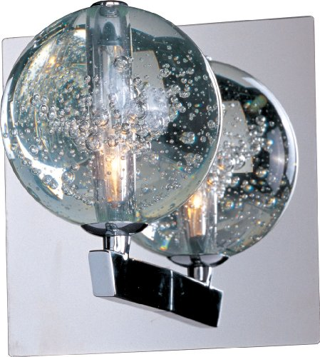 ET2 E24250-91PC Orb 1-Light Wall Sconce, Polished Chrome Finish, Bubble Glass, 12V G4 Xenon Bulb, 35W Max., Dry Safety Rated, 2700K Color Temp., Acrylic Shade Material, 6350 Rated Lumens