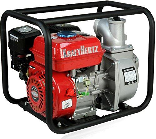 Krafthertz® benzine waterpomp motor vuilwaterpomp modder pomp vijverpomp tuinpomp