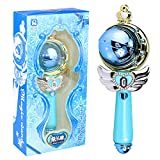 YSpring Cosplay Props Cutie Toy Sailor Moon Wand Rod Glow Stick Uranus Rod Musical Magic Wand-Heart Moon Rod Anime Cosplay Girl Toys(Blue)