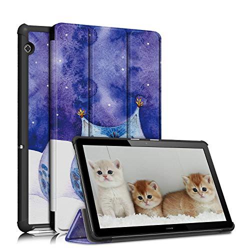 topCASE Funda para Samsung Galaxy Tab A 10.1 SM-T510 T515 2019 ultrafina, con función soporte, búho
