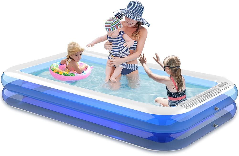 "REDLIRO Max 78% OFF Inflatable Swimming Pools 120""x Size B 72""x 19.6""Family price"