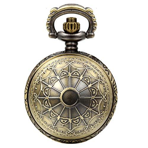 Lancardo Reloj de bolsillo retro vintage con telaraña de 24 horas