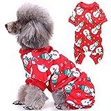 YUESEN Pet Dress Up Perro Disfraz de Copo de Nieve Suéter para Mascota Suave Sudadera Navidad Ropa Abrigo de Perro Mediano y Grande(XL,Rojo)