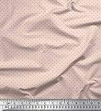 Soimoi Rosa Georgette Viskose Stoff schwarz dots Stoff