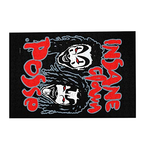 """JIECARKO Insane Clown Posse Logo 300 Large Pieces Jigsaw Puzzle for Adults and Kids Wooden Puzzle for Intellectual Game Colorful Toys Artwork 15.07""""x 10.23"""""""