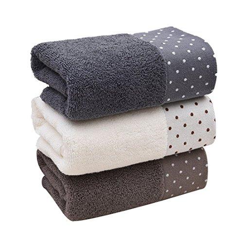 Toallas de baño de algodón, lavables a máquina, 3 piezas