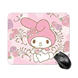 My Mel-ODY Mouse pad with Wrist Support Anime Gaming Cute Large Black Anti Slip Rubber for Desktop 2530cm