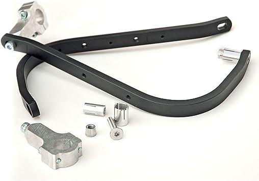 Aluminum Pro Handguards Kit Silver 7//8 Bars