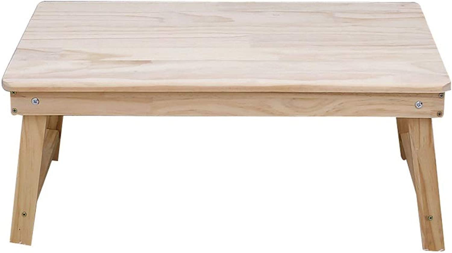 Foldable Removable Solid Wood Small Table, Portable Desk, Suitable for Bed, Sofa, etc, It is Also Suitable for Breakfast Table, color, Size Optional (color   Light color)