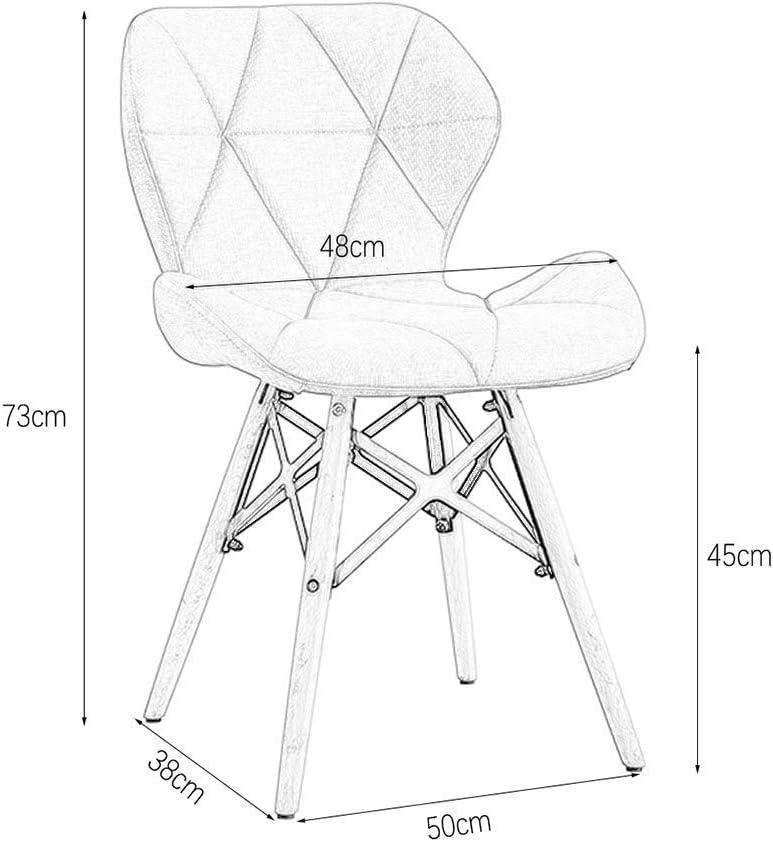 Chairs Chaises de Bureau Chaise de Salle À Manger (50 * 38 * 73Cm) Maison Chaise Longue En Bois Massif Chaise D'Ordinateur Chaise Pour Étudiant Multicolore,Gris Foncé Blanc