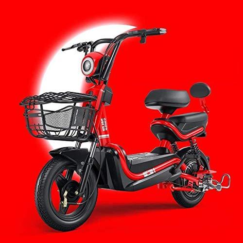 Bicicletas Eléctricas, Los Adultos actualicen Scooter eléctrico, 350W 48V, Pantalla eléctrica/Modo de Ajuste 1-3 Engranajes/Alarma antirrobo/posicionamiento GPS, kilometraje Continuo: 80-95 km,