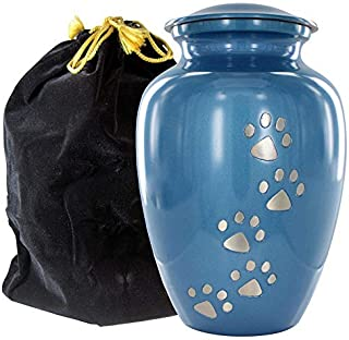 Trupoint Memorials Always Faithful Upright Pet Urns for Dogs Ashes and Cats Too – A Perfect Resting Place for Your Best Pal – for Small or Large Pets up to 120 lbs - W Velvet Bag