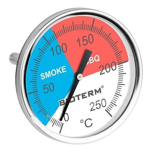 THERMOMETER für RÄUCHEROFEN BBQ SMOKER GRILL RÄUCHERTHERMOMETER bis 250° NEU 101200