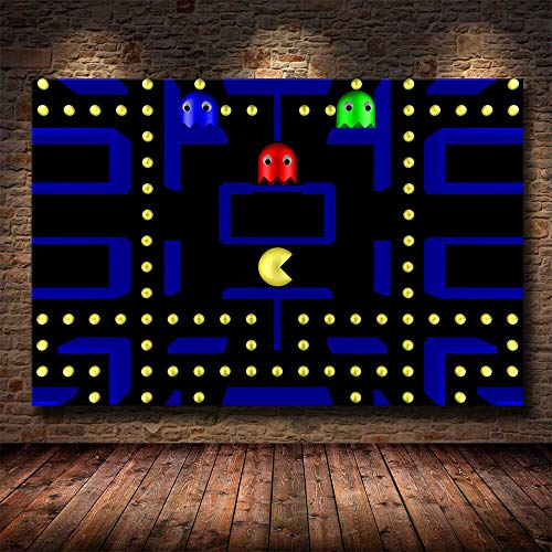 fancjj jigsaw puzzle 1000 piece-Classic game Pac-Man Toys Game Jigsaw Puzzles For Grown Ups Wooden Adults Puzzle Toys Decorative50x75cm(20x30inch)