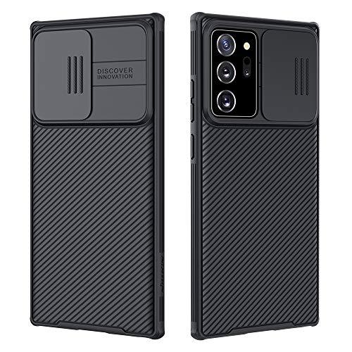 NILLKIN Funda Samsung Note 20 Ultra, [Protección de la cámara] Estuche híbrido Parachoques Premium no voluminoso Delgado Funda rígida para PC para Samsung Note 20 Ultra.