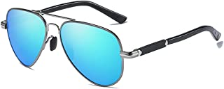 Durable Fashion Wild New PC Material Polarized Color Film Sunglasses Brown/Blue Men's Driving Sunglasses (Color : Blue)