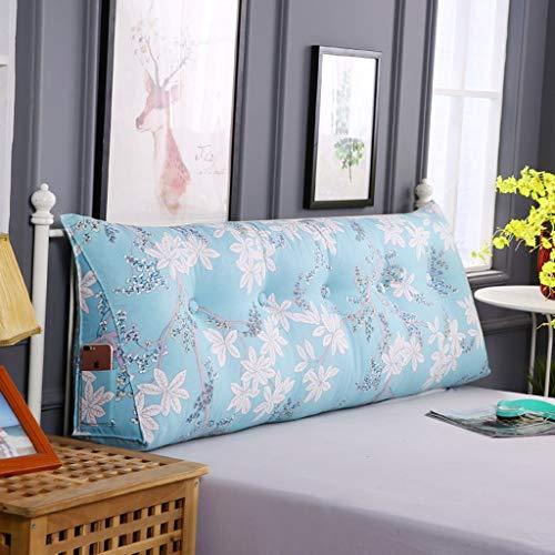 BEIGOO Keilkissen für Bett, LeinwandDoppeltes Langes KissenEinfache WärmeSofa zurückWaschbar Dreieck Kissen-C-200X20X50Cm(79X8X20Zoll)